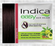 5 Pc Indica Easy10 Minutes Herbal Hair Colour Shampoo Base Burgundy Herbs