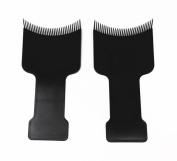 Honbay 2pcs Barber Flat Top Paddle Board Comb Hair Balayage Highlights Board Hair Colouring Kit for Hair Dye