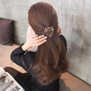 Ecurson Hollow Out Diamond Geometric Shape Hairpin Hair Clips Hair Accessories