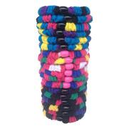 18pcs Colourful Cotton Stretch No-damage Ponytail Holders Elastics Hair Ties-Rainbow01