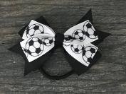 Soccer Hair Accessories, Soccer Hair Bows, Soccer Bow for Girls, Soccer Gift