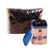 2 Box (4000 PCS) Disposable Black Hair Ties Ponytail Holder With Blue UK Tin Box