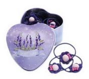 20Pcs Purple Flowers Hair Ties Holders Hair Bands With Lavender Tin Box For Kids