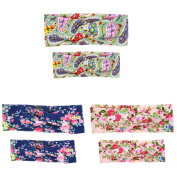 3 Pack Mom and Me Turban Headband Baby Girls Twisted Headwrap Hairband Floral BowKnot Elastic Hair Bow