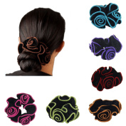 Ever Fairy 6Pcs Women Hair Scrunchies Floral Print Cotton Headbands for Sport or Daily Wear