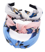 STHUAHE 3PCS Hair Bands,Women Handmade Lovely Style Cloth Cross Knot Hair Hoop Hairband Headband Headwear Hair Accessories by Beauty Hair