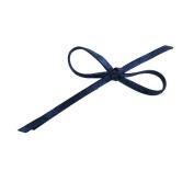 WakawakaC Extra Long Iridescent Bow Bobby Pin in Blue