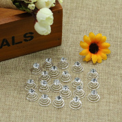 Wedding Bridal Crystal Clear Rhinestones Metal Spiral Twist Hairpins Hair Pins for Women And Girls