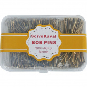 ScivoKaval Bobby Pins, Champagne Gold for Blonde, 300 Count Hair Pins Bulk, in a Case Box Tub