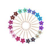KangSong 20Pcs Meatl Bobby Pins With Decoration Hair Clips for Hairdressing Gold Colour
