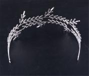 BININBOX Wedding Lady Hair Crystal For Women Bridal Bridesmaids Headpiece Head Band Accessorie Leaf