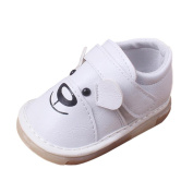 Infant Baby Cartoon Leather Single Shoes, Leedford Rubber Soft Sole Casual Flats Shoes