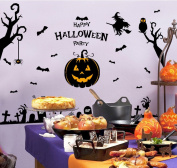 Happy Halloween Pumpkin Trick Or Treat Value Party Scene Wall Decorating Kit Bedroom Home Window Sticker Mural for Baby Kids Room