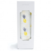 Saranoni Luxury Bamboo Cotton Muslin Swaddle Baby Blanket 120cm x 120cm , Hello Yellow Pineapple Design