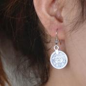 FXmimior Fashion Women Vintage Earrings Lucky Coin Long Chain Drop Dangle Earrings Jewellery