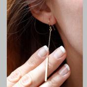 FXmimior Fashion Women Earrings Thin Long Chain Pendant Drop Dangle Earrings Jewellery