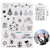 JUNKE 1 PC Christmas Tattoo Transfer Stickers Christmas Them Waterproof Temporary Tattoo Sticker Set for Party Cosplay