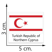 Turkish Republic of Northern Cyprus Flag Temporary Tattoos Sticker Body Tattoo