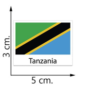 Tanzania Flag Temporary Tattoos Sticker Body Tattoo