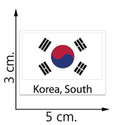 South Korea Flag Temporary Tattoos Sticker Body Tattoo
