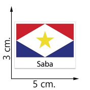 Saba Flag Temporary Tattoos Sticker Body Tattoo