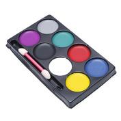 Techinal Face Paint Kit, 8 Colour Face Body Paint Oil Fancy Dress Up Halloween Party Makeup sets