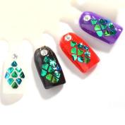 Iuhan Stunning 3D Acrylic Nail Art Tips Stud DIY Decoration Glitter Rhinestones Wheel for Nail Beauty