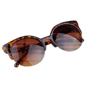 Mchoice Fashion Vintage Sunglasses Retro Cat Eye Semi-Rim Round Sunglasses for Men Women Sun Glasses
