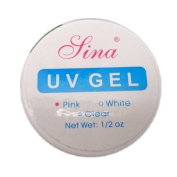 New Professional White / Pink / Clear Colour Builder Gel Uv Nail Art Manicure