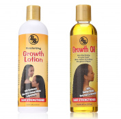 "Bronner Brothers Growth Hair Strengthener LOTION 350ml + OIL 240ml ""SET"""