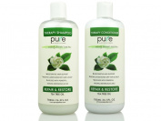 PURE Tea Tree Oil Shampoo & Conditioner Set, 780ml each - Tea Tree Shampoo + Tea Tree Conditioner for Deep Cleansing & Hydrating for Dandruff, Itchy Scalp & Dry Hair