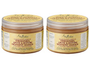 SheaMoisture Jamican Black Castor Oil Strengthen, Grow & Restore Treatment Masque (Pack of 2) with Certified Organic Shea Butter, Castor Seed Oil and Peppermint Leaf Extract, 350ml