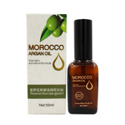 Organic 50ml Argan Oil for Hair, Face and Skin, Grade A Triple Extra Virgin Cold Pressed from The kernels of The Moroccan Argan Tree