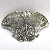 Silver Dragonfly Barrette Dragonfly Hair Clips metal Barrettes Dragonfly Bridal Wedding Barrette for Thick Hair Nature Theme Angelina Verbuni Designer