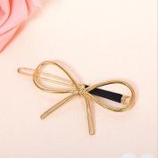 Gold Bow - Fashion Women Metal Crystal Rhinestone Bobby Hair Pin Barrette Clip Hairpin