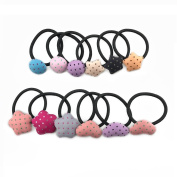 12PCS Sc0nni Cute Hair Rope For Baby,Toddler,and Young Girls(heart,star,circular)