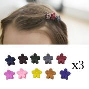Honbay 30PCS Coloured Bangs Mini Hair Claws Clips Hair Pins for Little Girls