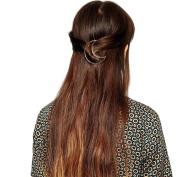 Waymine Hot Selling Women Moon Gold Barrette Hairpin Hair Clip Headband