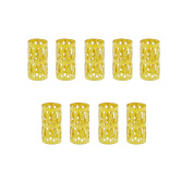 100pcs Gold Dread Lock Dreadlocks Beads Wig Hair Ring Braid Ring Aluminium Cuffs Filigree Tube for Hair Decoration