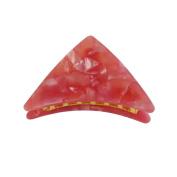 WakawakaC Medium Triangular Jaw Hair Clip Claws Pearl Pink