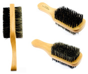 Two Way Wooden Brush Two Way Sided Soft And Hard Hair Comb