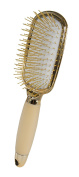 Evriholder Golden Paddle Hairbrush - Gold Elegant Design - Perfect For All Hair Types - Durable Bristles - Soft Grip Handle