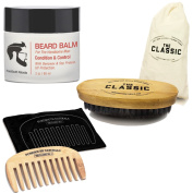 My Best Beard Kit De Bálsamo Para Barba + Cepillo Jabalí + Peines Para Hombres