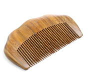 Exquisite Mini Size Natural Green Sandalwood Comb Handmade No Static Fine Tooth Pockets Hair Comb Without Handle