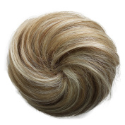 AndyBeauty 100% Human Hair Bun Up Do Hair Piece Hair Ribbon Ponytail Extensions Wavy Curly or Messy Div