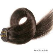 100% Virgin Hair Clip In Hair Extension Full Head 7 PCS 16 Clips 70 Gramme 12 Colour Hairpiece