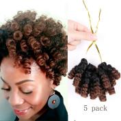 """Hairphocas Black Hair Dirty Saniya Curl(12mm) 10"""" #1B/30"""