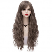 Grey Long 70CM Curly Heat Resistant Lolita Fashion Women Cosplay Wig + Wig Cap