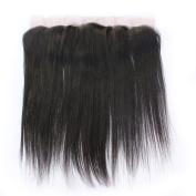 Brazilian Straight Virgin Human Hair 33cm x 10cm Lace Frontal Closure Natural Colour Free Part Ear To Ear Hair Closure With Baby Hair