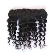 6A Brazilian Virgin Human Hair Loose Wave Free Part Ear To Ear 33cm x 10cm Lace Frontal Closure Natural Colour Hair Closure With Baby Hair